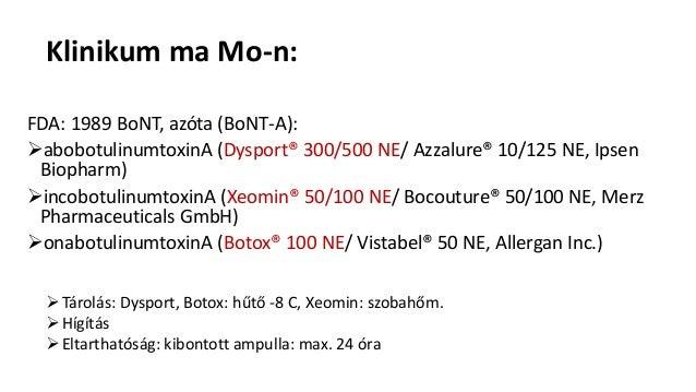 Medical use of botulinum toxin - Botulinum toxin orvosi felhasználása