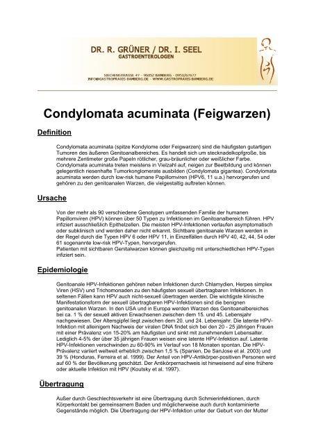condylomata acuminata entbindung