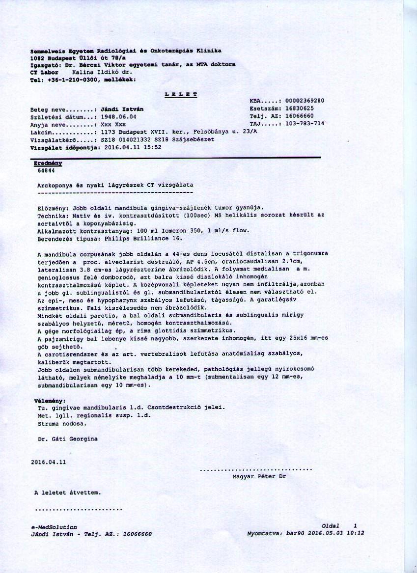 gyomorrák irányelvek esmo)